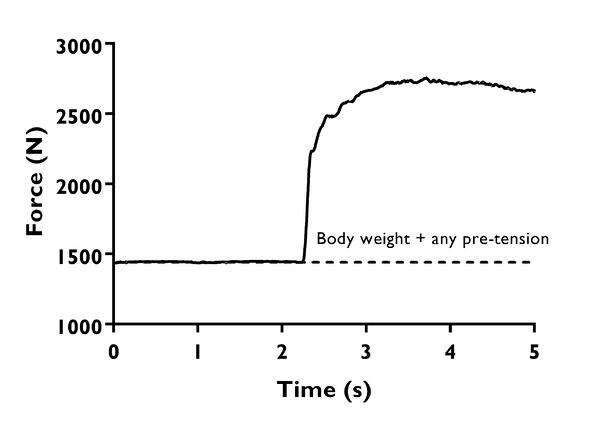 IMTP basic force-time curve