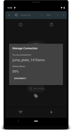 Testing Screen Manage Connection